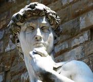David by Michelangelo outside Palazzo Vecchio on Piazza della Signoria, Florence, Italy royalty free stock image
