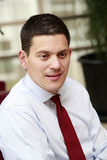 David Miliband in Istanbul, Turkey Stock Image
