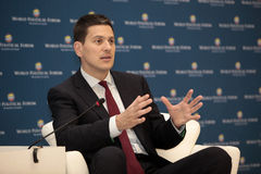 David Miliband in Istanbul, Turkey Royalty Free Stock Images