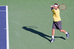 David Nalbandian at the 2010 BNP Paribas Open Royalty Free Stock Photography