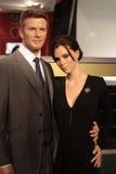 David och Victoria Beckham Arkivbild