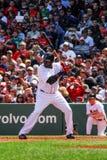 David Ortiz at bat. stock images