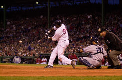 David Ortiz, Boston Red Sox. Boston Red Sox DH David Ortiz makes solid contact during game 5 of the 2003 ALCS. (Image taken from a color slide Royalty Free Stock Image
