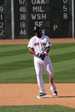 David Ortiz of the Boston Red Sox on second after a double Stock Image
