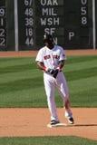 David Ortiz del Boston Red Sox sul secondo dopo un doppio immagine stock
