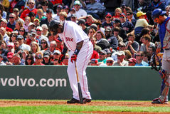 David Ortiz getting in batters box. Stock Photography