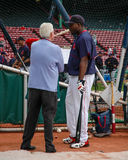 David Ortiz i Peter Gammons Fotografia Royalty Free
