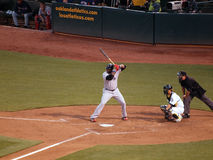 David Ortiz up to bat with Kurt Suzuki Catching stock images