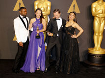 David Oyelowo, Joanna Natasegara, Orlando Von Einsiede i Salma Hayek, Zdjęcia Royalty Free