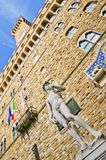 David and Palazzo Vecchio (Florence) Royalty Free Stock Photography