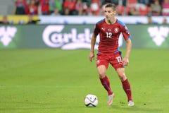 David Pavelka. Pilsen 04/09/2015 _ Match of the EURO 2016 qualification group A Czech Republic - Kazakhstan stock images