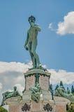 David in Piazzale Michelangelo in Florence, Italië royalty-vrije stock foto