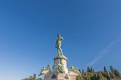 David in Piazzale Michelangelo in Florence, Italië stock fotografie