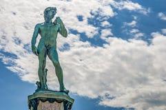 David in Piazzale Michelangelo in Florence, Italië stock afbeeldingen