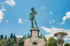 David in Piazzale Michelangelo in Florence, Italië stock foto