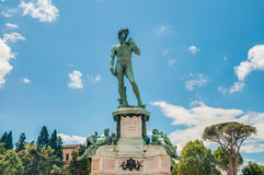 David at Piazzale Michelangelo in Florence, Italy stock photo