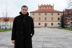 David Rath. Czech politician David Rath, who is accused of corruption, posing for photo after his release from custody, Hostivice, Czech republic, November 13 Stock Photography