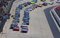 David Reutimann and Kasey Kahne lead the field to Stock Photography