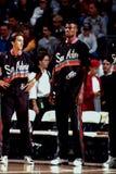 David Robinson e Vinny Del Negro, San Antonio Spurs Fotografie Stock Libere da Diritti
