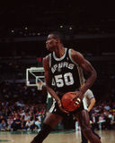 David Robinson, San Antonio Spurs. San Antonio Spurs center David Robinson #50, (Image taken from color slide royalty free stock photos