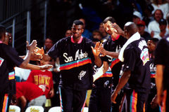 David Robinson, San Antonio Spurs. San Antonio Spurs center David Robinson. (Image taken from color slide royalty free stock photography