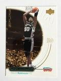 David Robinson Upperdeck Basketball Card anziano 2000 immagine stock