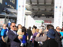 David Rocco at Piazza Italia Festival Royalty Free Stock Image