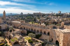 Free David`s Tower In Old City Of Jerusalem, Israel Stock Photo - 144901700