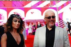 David Shneiderov bei XXXVI internationalem Film-Festival Moskaus lizenzfreie stockbilder