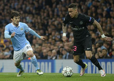 David Silva and Gregory van der Wiel Royalty Free Stock Images