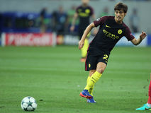 David Silva. David Josue Jimenez Silva midfielder of Manchester City, pictured during the Uefa Champions League match against Steaua Bucharest. Manchester City Stock Photography