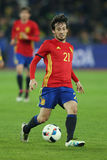 David Silva. David Josue Jimenez Silva midfielder of the Spanish National Football Team, pictured during the friendly match between Romania and Spain, played at Stock Photos