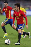 David Silva. David Josue Jimenez Silva midfielder of the Spanish National Football Team, pictured during the friendly match between Romania and Spain, played at Royalty Free Stock Images