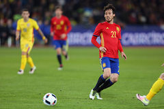 David Silva. David Josue Jimenez Silva midfielder of the Spanish National Football Team, pictured during the friendly match between Romania and Spain, played at Stock Photography