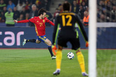 David Silva. David Josue Jimenez Silva midfielder of the Spanish National Football Team, pictured during the friendly match between Romania and Spain, played at Stock Photo