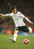 David Silva of Valencia CF. In action during a Spanish League match between FC Barcelona and Valencia at the Nou Camp Stadium on March 14, 2010 in Barcelona Royalty Free Stock Image