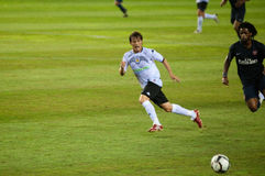 David Silva, Valencia player, plays Trofeo Naranja Royalty Free Stock Photography