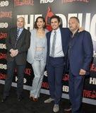 David Simon, Maggie Gyllenhaal, James Franco i George Pelacanos, fotografia stock