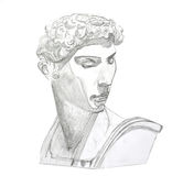 David. Sketch made by hand of David Royalty Free Stock Images