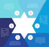 David Star-Design Schablone und infographics Lizenzfreies Stockfoto