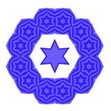 David Star Jewish Symbol azul de la religión Fotos de archivo