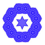 David Star Jewish Symbol bleu de religion Photos stock