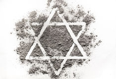 David star made of ashes Stock Images