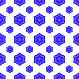 David Star Seamless Jewish Symbol bleu de religion illustration stock