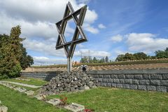 David Star at Terezin war cemetery Royalty Free Stock Photography