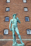 David statue in Copenhagen, Nyhavn - Denmark Royalty Free Stock Photos