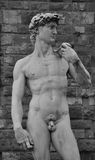 David statue by Michelangelo Buonarroti in Florenc Royalty Free Stock Photos