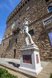 Statue of David in Florence on Piazza della Signoria, Italy Royalty Free Stock Photo