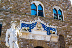 David statue in piazza Signoria in Florence Stock Images