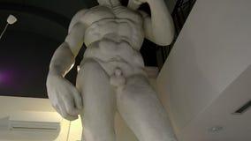 David Statue stock video footage